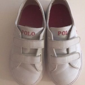 Little girl polo sneakers